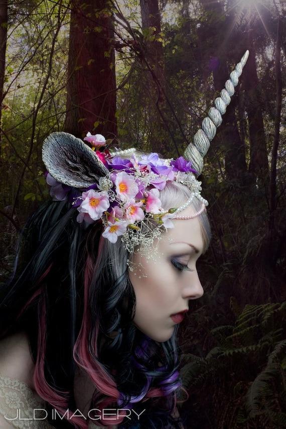 Unicorn Nymph Horn and Ear Headdress