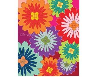 Flower Abstract - Illustration Print