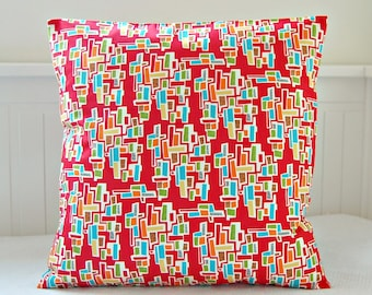 retro decorative pillow cover red blue green orange yellow cushion cover 16 inch