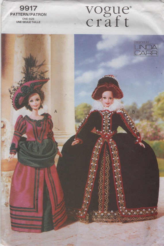 Vogue 9917 652 Linda Carr Barbie Doll Clothes Pattern Fashion Doll ...