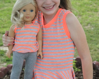 "Sassy Knit Peplum Tank Top for 15"" and 18"" dolls"