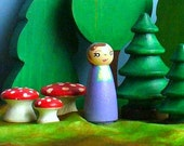 Wooden Toy - Fairy Peg Doll, Lavender - Waldorf Toys