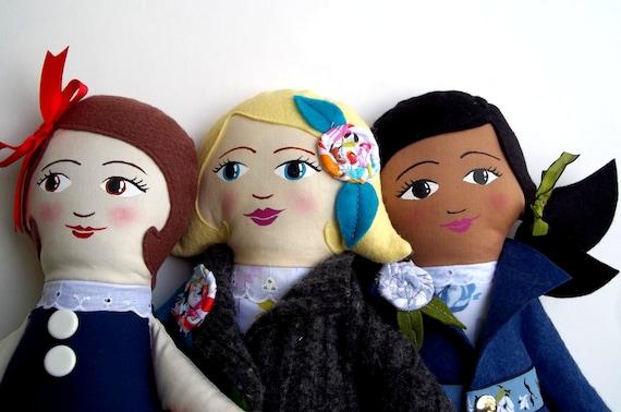 Custom Cloth Doll, Handpainted Heirloom Rag Doll, Beautiful Dolls, Personalized Doll
