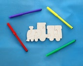 Train Party Favors - Childrens Wood Puzzles - Package of 10 Choo Choo Puzzles with Markers - Great for Childrens and Toddler Party Activity