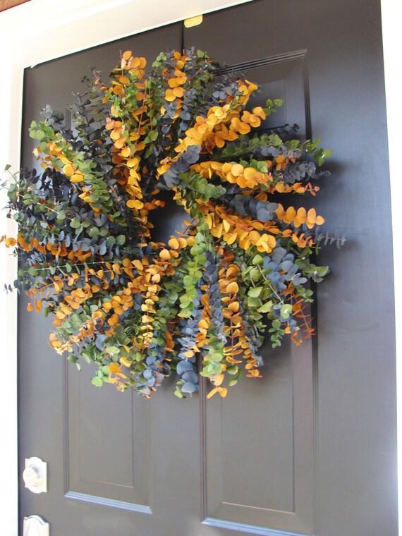 Eucalyptus Wreath- Year Round Wreath- Spring Wreath- Wall Decor- Dried Floral Wreath
