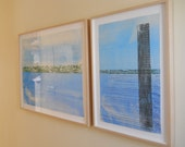 Framed Original Woodblock Print by Kristen DeFontes