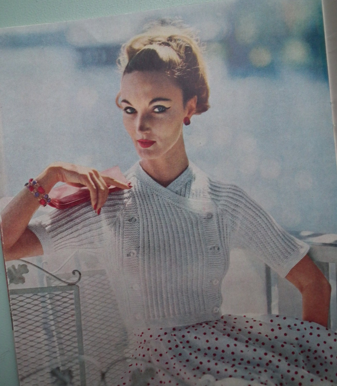 Vintage vogue knitting book no 52 1950s knitting patterns 50s 3575 bankloansurffo Choice Image
