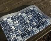 Star Wars monochrome lap quilt