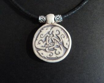 The ancient wisdom of Rats - Ceramic pendant necklace