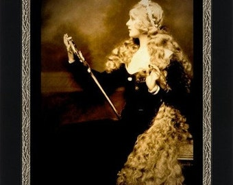 Beautiful Woman with Long Blonde Hair - Princess - Fine Art Print of Enhanced Vintage Photograph circa 1920