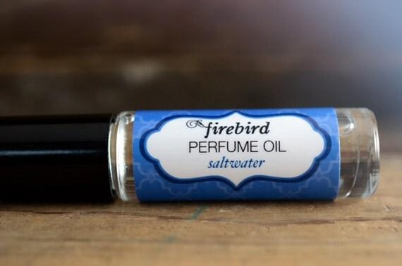 Saltwater Perfume Oil, Ocean Water, Salt Air, Driftwood, Roll On Perfume