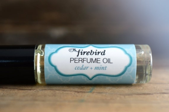 Cedar and Mint Perfume Oil, Cedarwood, Fresh Mint, Damp Earth
