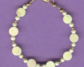 Lemon Chryoprase Gemstone Bracelet