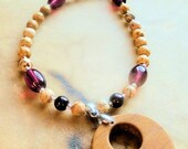 Jasper and Amethyst Necklace, Southwestern Style, Gemstone Jewelry, Native Style, Handcrafted Jewelry, Purple and Brown