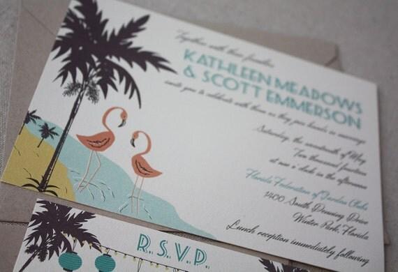 Wedding Invitations Eco Friendly: Vintage Florida Eco-Friendly Destination Wedding Invitation