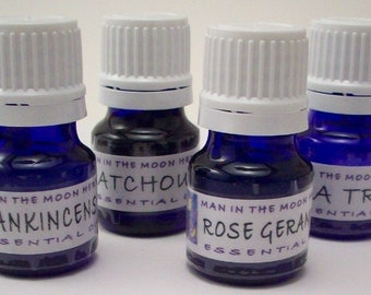 Essential Oils Kit - Your Choice of Oils - Lavender Patchouli Lemongrass Bergamot Frankincense Eucalyptus  Tea Tree Lemon