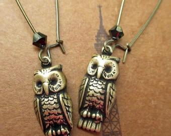 Little Owl Drop Earrings by Parisienne Girl