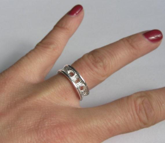 Silver Shark Vertebra Ring - Petite