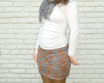 Knitted Mini Skirt Multicolored size medium large