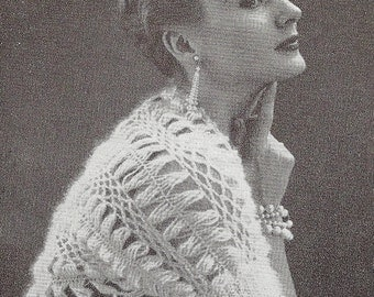 Beautiful shrug, top Vintage Crochet Pattern 093