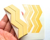 geometric pattern stamp. chevron hand carved rubber stamp. zigzag herringbone. block printing. gift wrapping. birthday holiday crafts. large