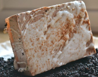 Mocha Java Coffee Bar - Vegan Soap - Cappucino - Coffee and Chocolate - Coffee Soap - Valentines Day - Gift for Her - Starbucks Fan
