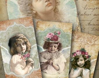 Printable images MY LITTLE PRAYER Gift Tags greeting cards Digital Collage Sheet Vintage ephemera decoupage Paper Craft Art Cult designs