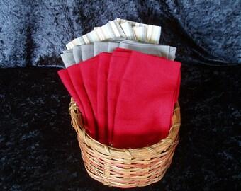 cloth napkin - solid color - cotton, vintage linen and linen blend