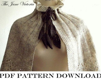 Capelet Knitting PATTERN, Ireth Carnesir, PDF DOWNLOAD