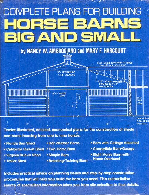 Build Barns Building Plans Book Horse Farm Shed Carpentry