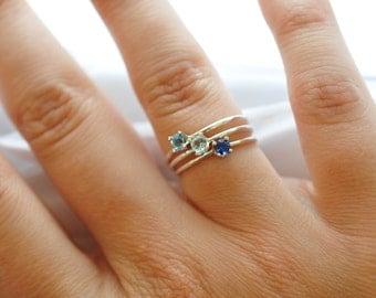 Resultado de imagen para simple aquamarine rings