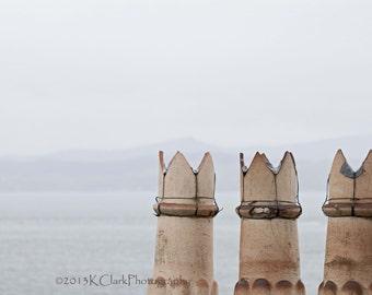 Three Kings Isle of Mull Scottish Landscape Fine Art Photography Chimney Pots of Duart Castle Large Art Minimal Home Decor Scotland Image