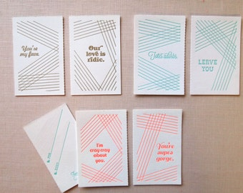 BFF Abbreviated Sayings Set of Cards