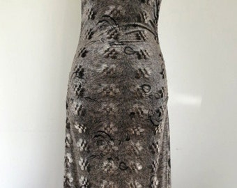 SHEENA // silver velvet 1980s bodycon one shoulder party dress