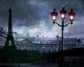CLEARANCE SALE Paris Photography, Eiffel Tower Blue Montage, Surreal Paris Blue Architecture, Paris Street Lamps, Paris Surreal Night Photo