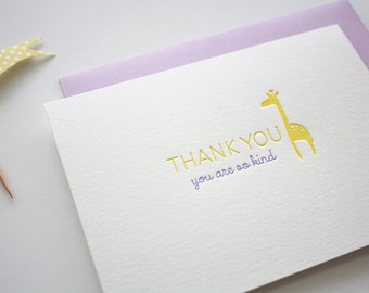 Letterpress Thank You Cards - Baby Thank You Card - Baby Shower