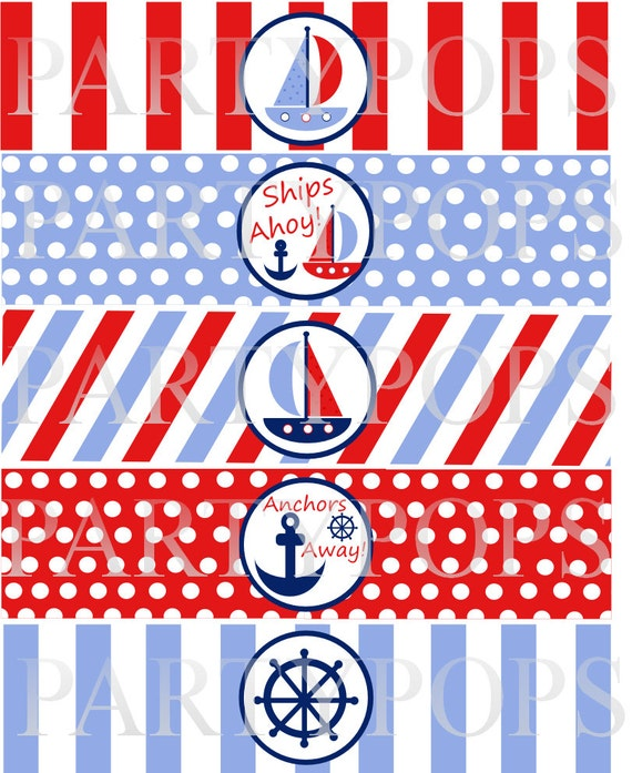 Items Similar Diy Digital Nautical Party Printable