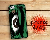 Hulking Monster Eye Hard Case | Hard Case For iPhone 4 and iPhone 4S  Rubber Trim