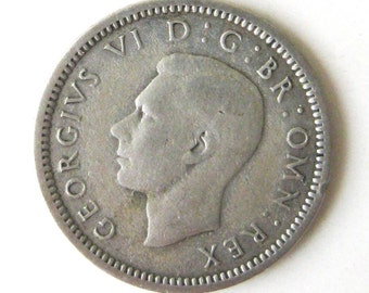 Vintage Coin Great Britain Three Pence 1938 Silver High Grade