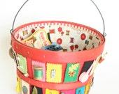 Vintage Sewing Basket & Supplies