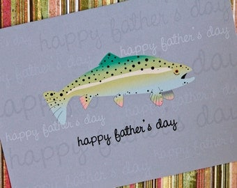 Happy Father's Day Trout Card