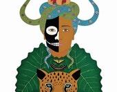 JAGUAR GARDEN Art Print by Thailan When