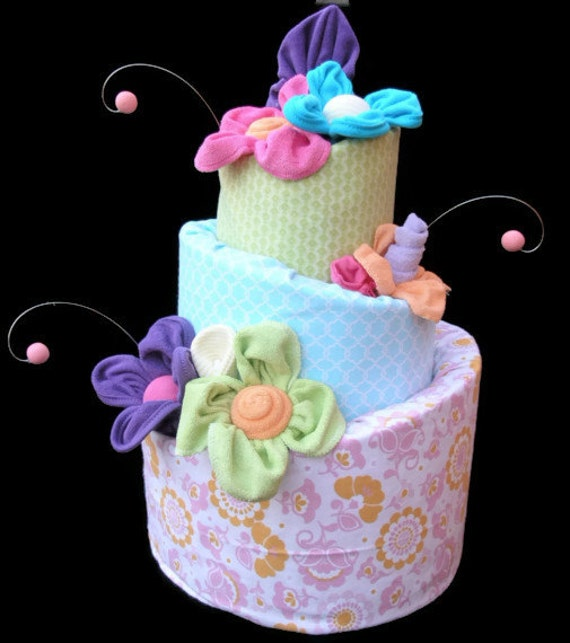 Items Similar To Baby Shower Diaper Cake Centerpiece, Girl
