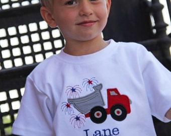 Boys 4th of July Shirt /  Boys Patriotic Shirt /  Boys Fourth of July Shirt / Red White and Blue Shirt