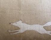 hand printed rustic flying fox cushion cover