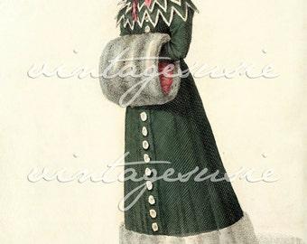 ACKERMANN Regency Fashion Plate Print COLLAGE SHEET 1826 Print 3 Digital Download Jane Austen