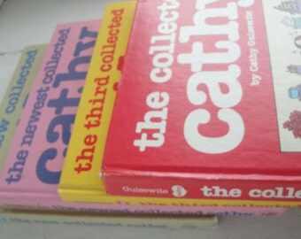 Cathy Comic Strip Books Set of 4 Hardback 1980s