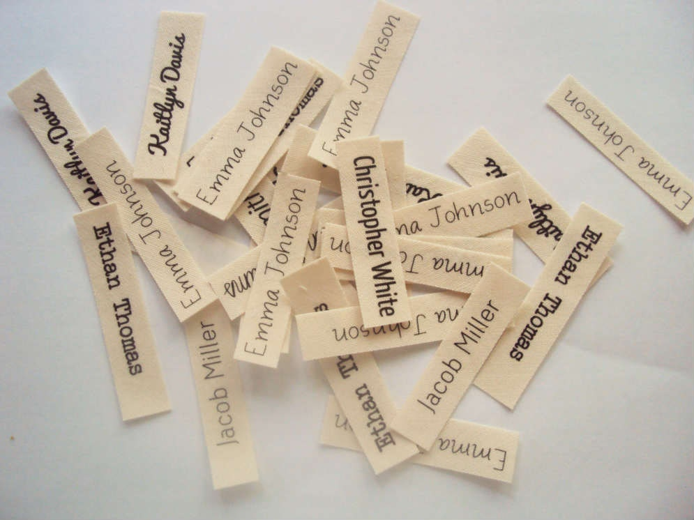 Clothing Tags: Custom Clothing Labels Personalized Name Tags For Children