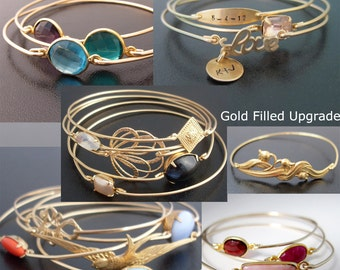 14K Gold Filled Bangle Band Upgrade... Upgrade Your Bangle Band From Brass to 14K Gold Filled. 10 Dollars per Bangle Band Upgraded