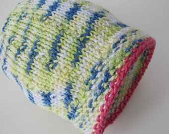 Hand Knit Hat for a Newborn Girl - Ready to Ship